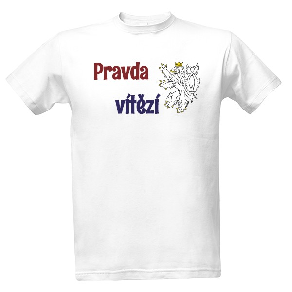 b1b005d69e89 Tričko s potlačou Tričko Pravda vítězí